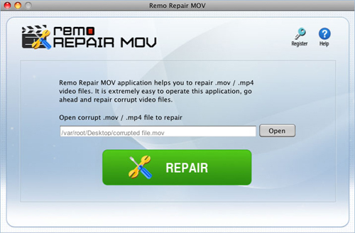 MOV repair  - File selection